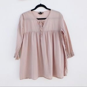 Lucky Brand Pale Relax Blouse Top size  M